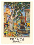 Provence, France - French National Railways - Market in Aix-en-Provence Art by André Planson