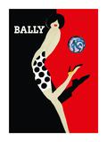 Bally Kick - Bally Shoes Lámina giclée premium por Bernard Villemot