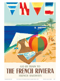 Go by Train to The French Riviera - Côte d'Azur, France - French National Railways Posters by Jacques Dubois