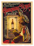 Quinquina Royal - French Liqueur - Est un Vrai Trésor (Is a Real Treasure) Posters af Eugene Oge