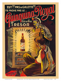 Quinquina Royal - French Liqueur - Est un Vrai Trésor (Is a Real Treasure) Posters by Eugene Oge