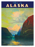 This is Alaska - Along Alaska's Sheltered Seas - The Alaska Line - Alaska Steamship Company Poster by Sydney Laurence