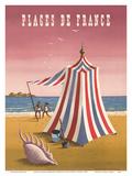 Plages de France (Beaches of France) Print by Jean Picart le Doux