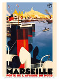 Marseille, France -Gateway to North Africa Poster by  Pacifica Island Art