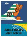 Australia (Australie) - TAI (Transports Aérien Internationaux) - Douglas Jet DC-8 - Koala Bear Plakater af  Seguin