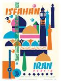 Isfahan, Iran - Persia Poster van Houshang Kazemi