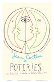 Poteries - Pottery Exhibition at the Tribunal de Pêche de Villefranche sur Mer Posters av Jean Cocteau