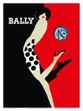 Bally Kick - Bally Shoes Schilderij van Bernard Villemot