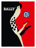 Bally Kick - Bally Shoes Poster by Bernard Villemot