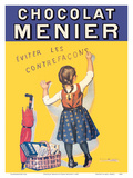 Chocolat Menier - Éviter Les Contrefaçons (Beware of Imitation) - French Chocolate Company Posters by Firmin Bouisset