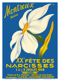 Montreux, Suisse (Montreux, Switzerland) - 1938 XX Fête des Narcisses (20th Narcissus Festival) Prints by Geo Pahud