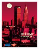 Rediscover New York - Discover Amtrak - Chrysler Building, MetLife Building Giclée-tryk af Bill Carter
