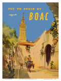 Fly to Spain - by BOAC (British Overseas Airways Corporation) Prints by Frank Wooton
