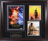 Daisy Ridley Three Photos Collage with Nameplate Framed Memorabilia