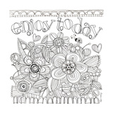 Enjoy Today Coloring Wall Decal by Robbin Rawlings