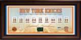 New York Knicks Retired Numbers Framed Memorabilia