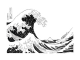 "The Great Wave of Kanagawa, from the Series ""36 Views of Mt. Fuji"" (""Fugaku Sanjuokkei"") Posters by Katsushika Hokusai"