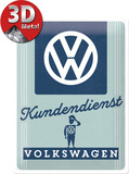 VW Kundendienst Blikkskilt
