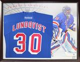 Henrik Lundqvist Signed Blue New York Rangers Premier Jersey Framed Memorabilia