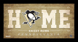 Pittsburgh Penguins Home Sweet Home Sign Framed Memorabilia