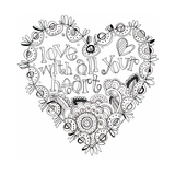 Heart Coloring Wall Decal by Robbin Rawlings