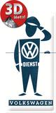 VW Dienst Mann Blikskilt