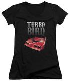 Juniors: Pontiac- Turbo Bird V-Neck T-Shirt