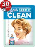 Keep it Clean Blikskilt