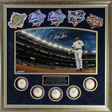 Derek Jeter Signed World Series Titles Framed Collage Framed Memorabilia