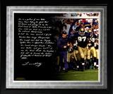 Lou Holtz Facsimile 'College Football Playoffs' Framed Metallic Photo Framed Memorabilia