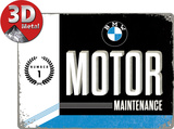 BMW Motor Plaque en métal