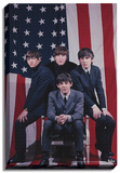 The Beatles - US Flag Stretched Canvas Print