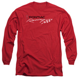Long Sleeve: Pontiac- Racing Flag Logo T-shirts