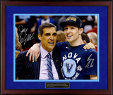 Jay Wright and Ryan Arcidiacono Dual-Signed Final Four Celebration with Quote Nameplate Framed Memorabilia