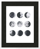 Moon Phases Watercolor I Posters by Samantha Ranlet