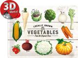 Vegetables Tin Sign