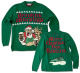 Knit Sweater: Dropkick Murphys- Sloshed Santa Ugly Sweater T-Shirt