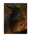 Dragon Portrait Photographic Print by Steve Goad