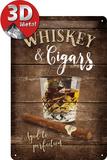 Whisky Carteles metálicos