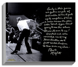"Bob Knight Facsimile ""Chair-Throwing"" Story Stretched Canvas Print"