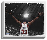 Patrick Ewing Stretched Canvas Print