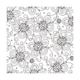 Posie Pattern Coloring Wall Decal by Robbin Rawlings