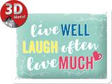 Życie śmiech miłość Plakietka emaliowana