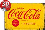 Coca-Cola Yellow Logo - Metal Tabela