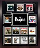 The Beatles US Album Discography Collage Framed Memorabilia
