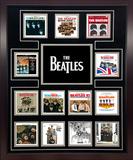 The Beatles US Album Discography Collage Framed Memorabilia