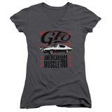 Juniors: Pontiac- Gto American Muscle Since '68 V-Neck T-Shirt