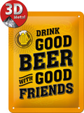 Drink Good Beer Plaque en métal