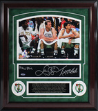 Boston Celtics 1980's Legends 3 Signature Framed Collage - Signed by Parish, Bird and McHale Framed Memorabilia