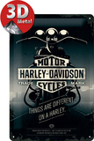Harley-Davidson Things Are Different Plaque en métal